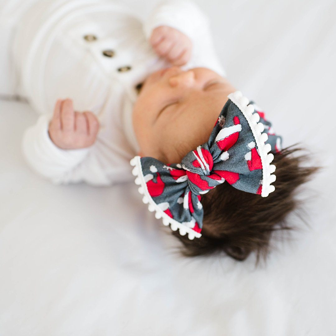 Ho Ho Trimmed Knot Headband - Project Nursery