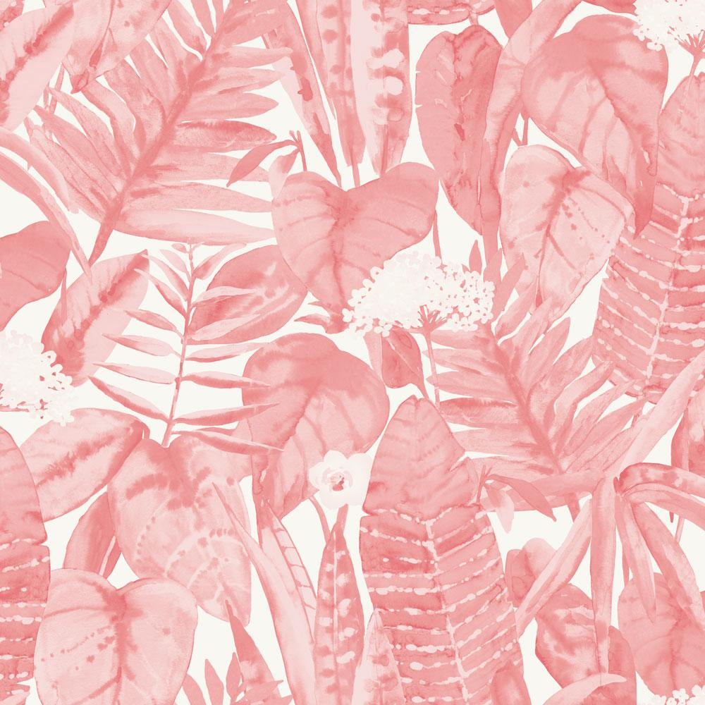 Tropical Jungle Wallpaper - Pink Lemonade - Project Nursery