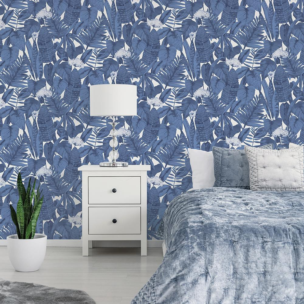 Tropical Jungle Wallpaper - Blue Raspberry - Project Nursery