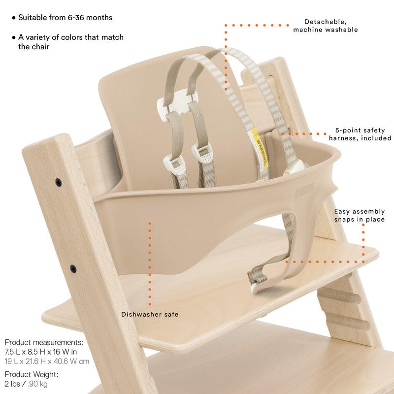 Tripp Trapp® High Chair Complete - White with Icon Grey - Project Nursery