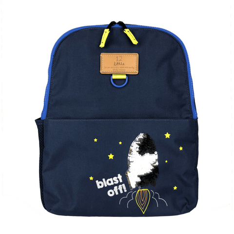 Junior Kid's Backpack - Navy Color Block