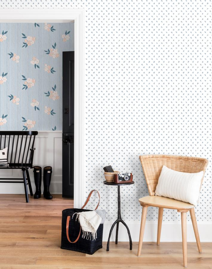 Teensy Floral Wallpaper - Project Nursery