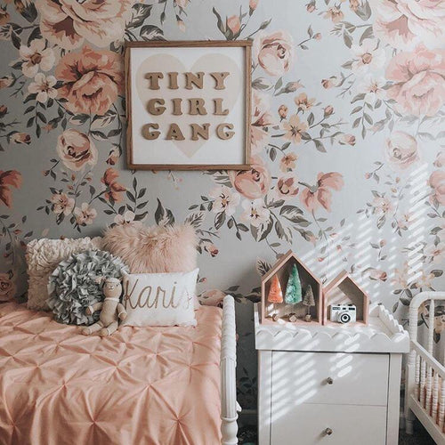 Tiny Girl Gang Wooden Sign - Multiple Colors - Project Nursery
