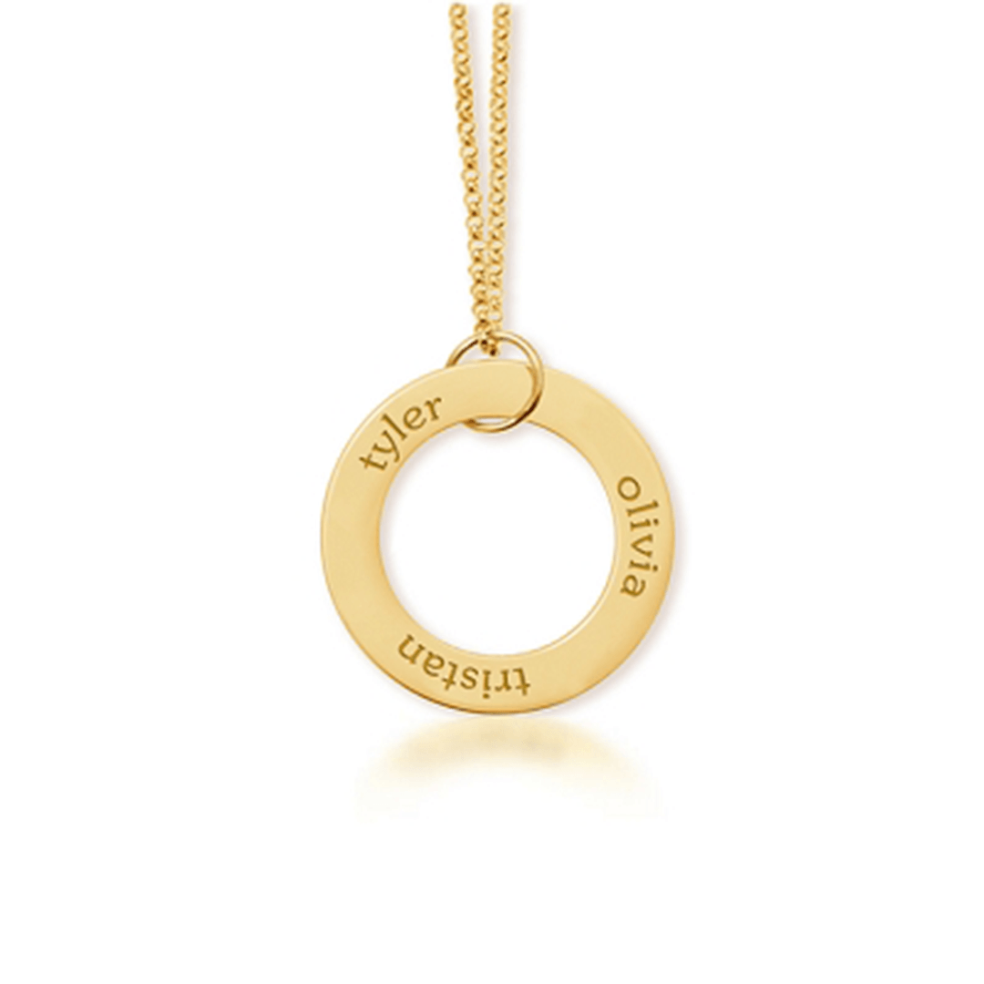 Gold Circle Pendant Necklace - Project Nursery