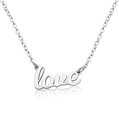 Sterling Silver Love Nameplate Necklace - Project Nursery