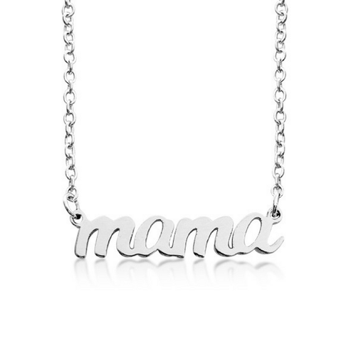 Sterling Silver Mama Nameplate Necklace - Project Nursery