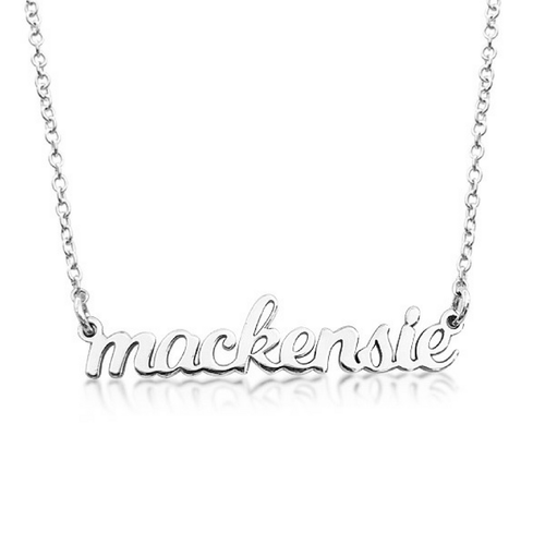 Sterling Silver Personalized Nameplate Necklace - Project Nursery