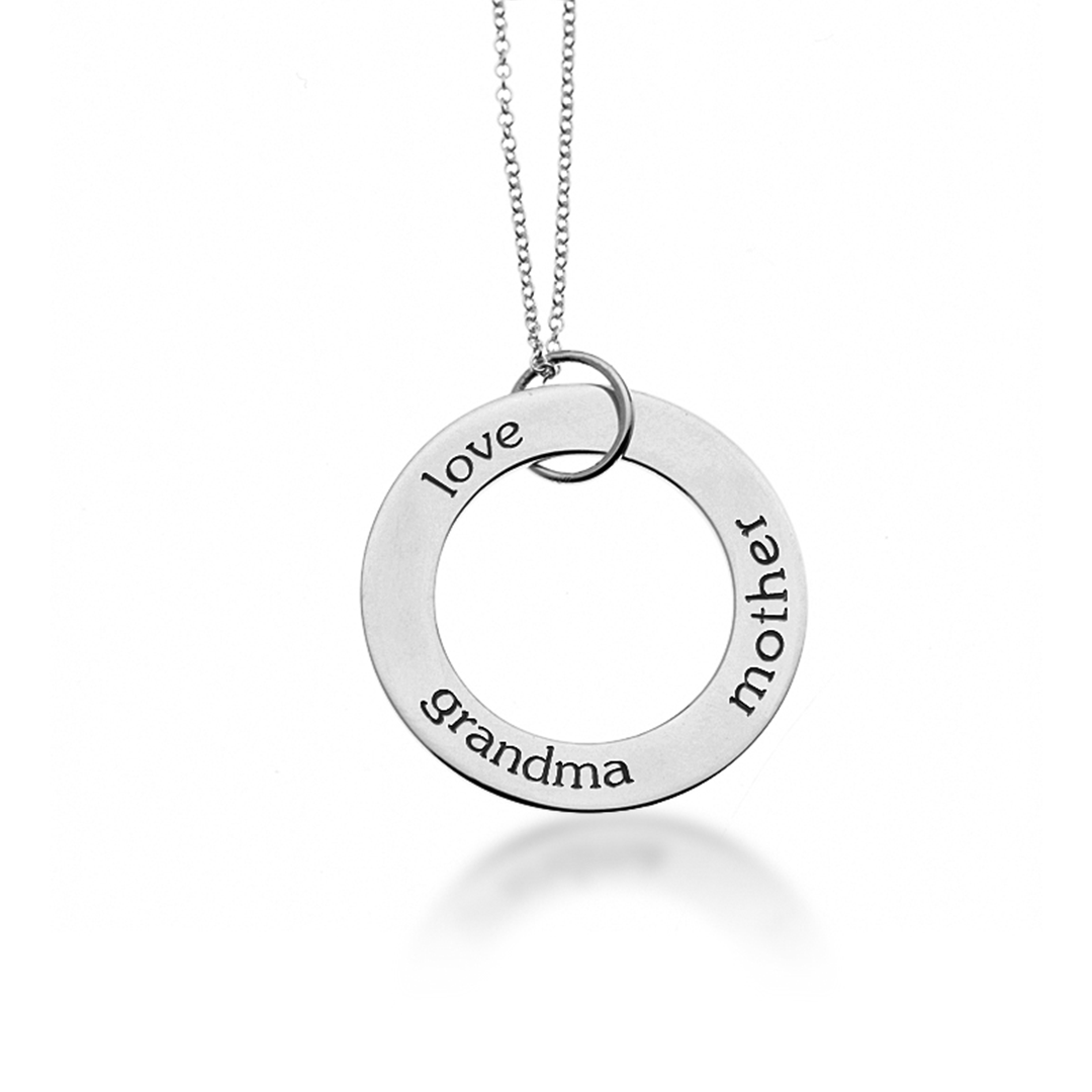 Sterling silver circle pendant necklace project nursery sterling silver circle pendant necklace project nursery aloadofball Images