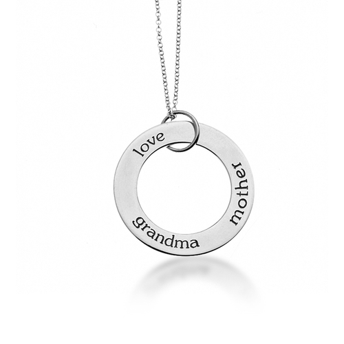 Sterling Silver Circle Pendant Necklace - Project Nursery