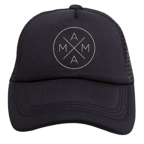 Mama Trucker Hat in Black - Project Nursery