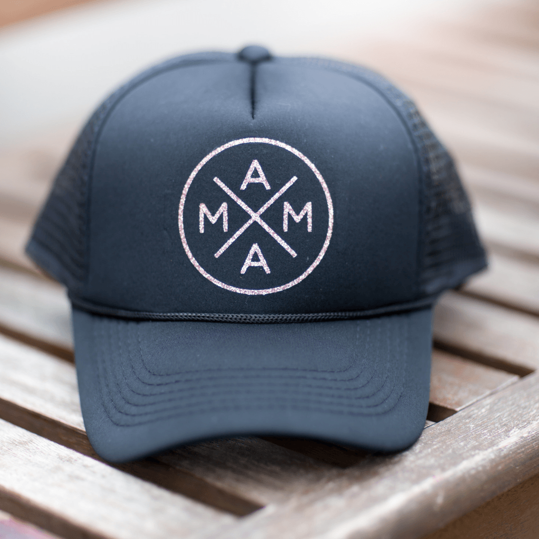 Mama Trucker Hat in Black – Project Nursery bb0438ed27a5