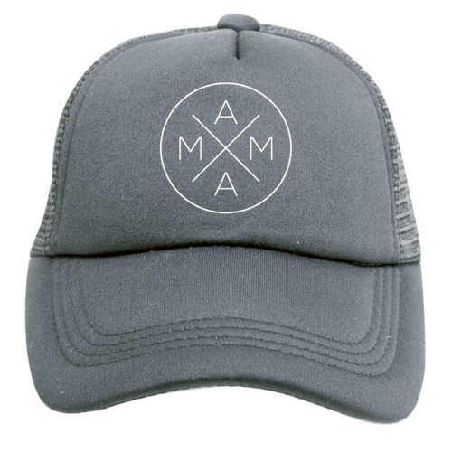 Mama Trucker Hat in Grey - Project Nursery