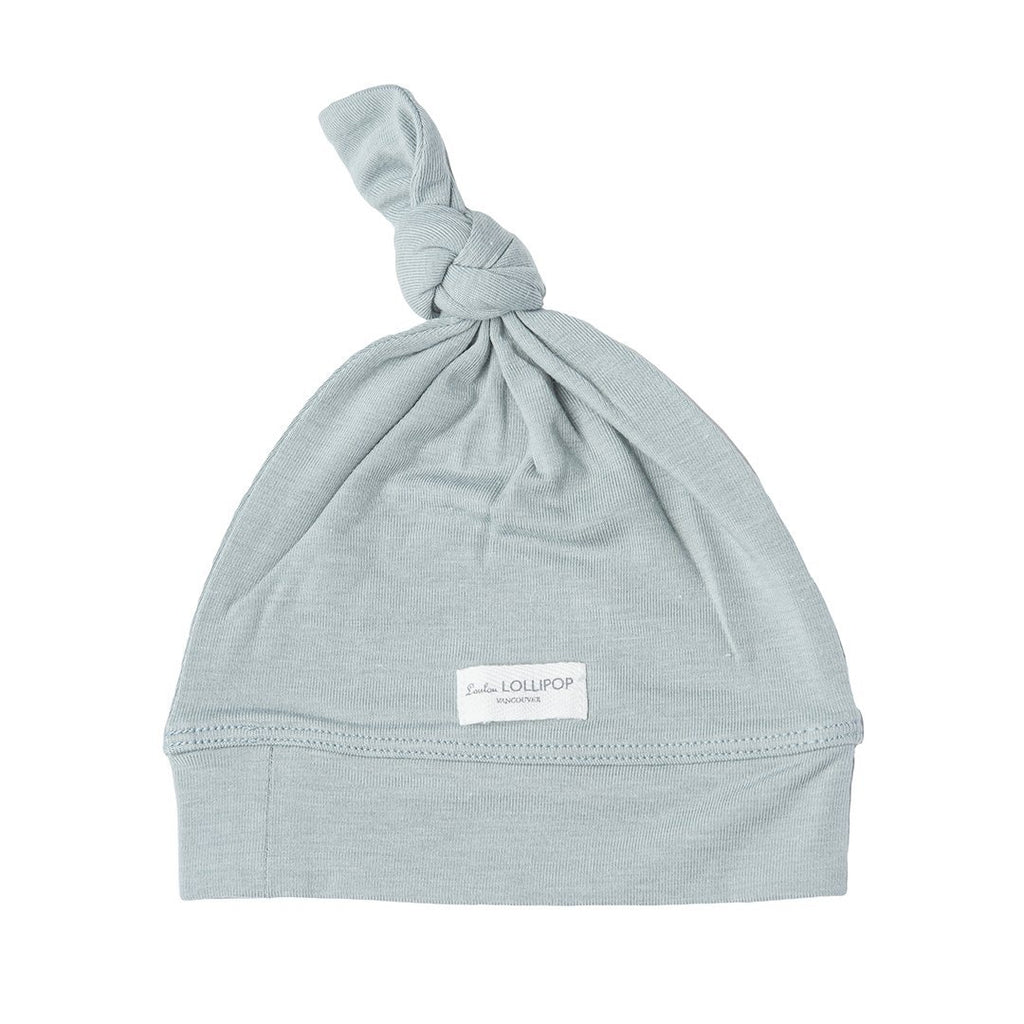 Slate Top Knot Beanie - Project Nursery