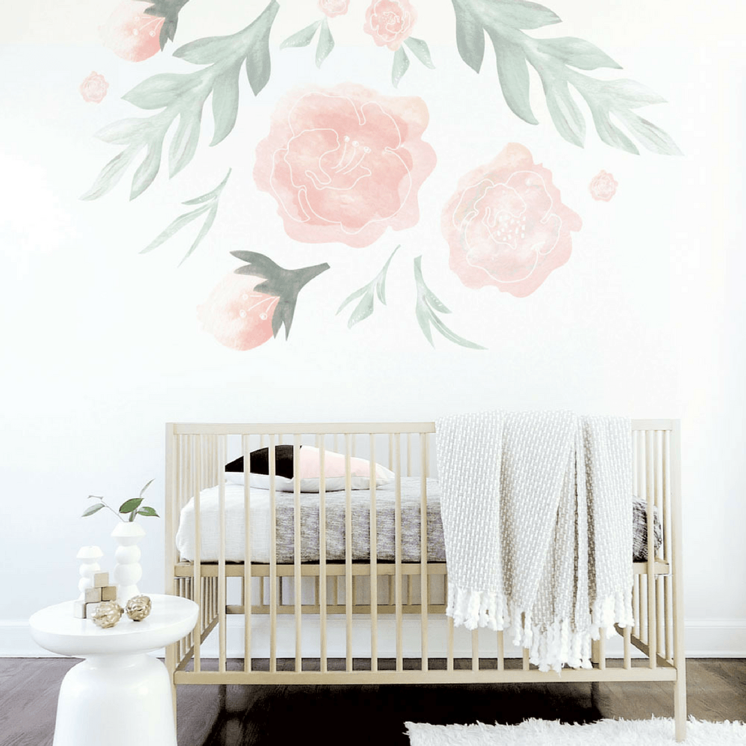 Large flower wall decal project nursery large flower wall decal mightylinksfo