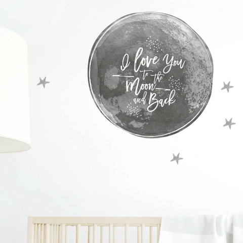 To Infinity Stars Wall Decal Set - Multiple Colors