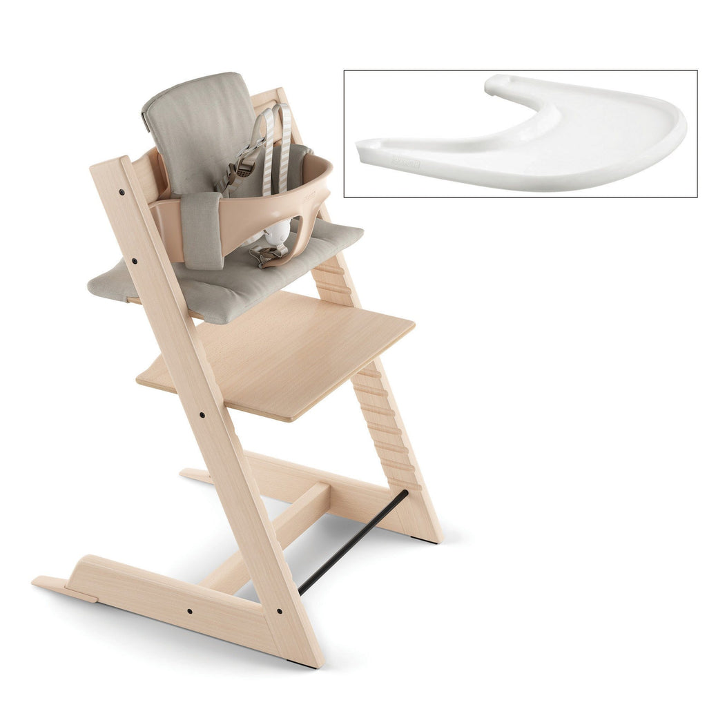 Tripp Trapp® High Chair Complete - Natural with Timeless Grey - Project Nursery