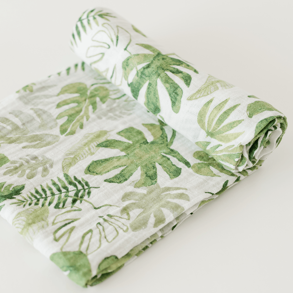 Tropical Leaf Swaddle  - The Project Nursery Shop - 1