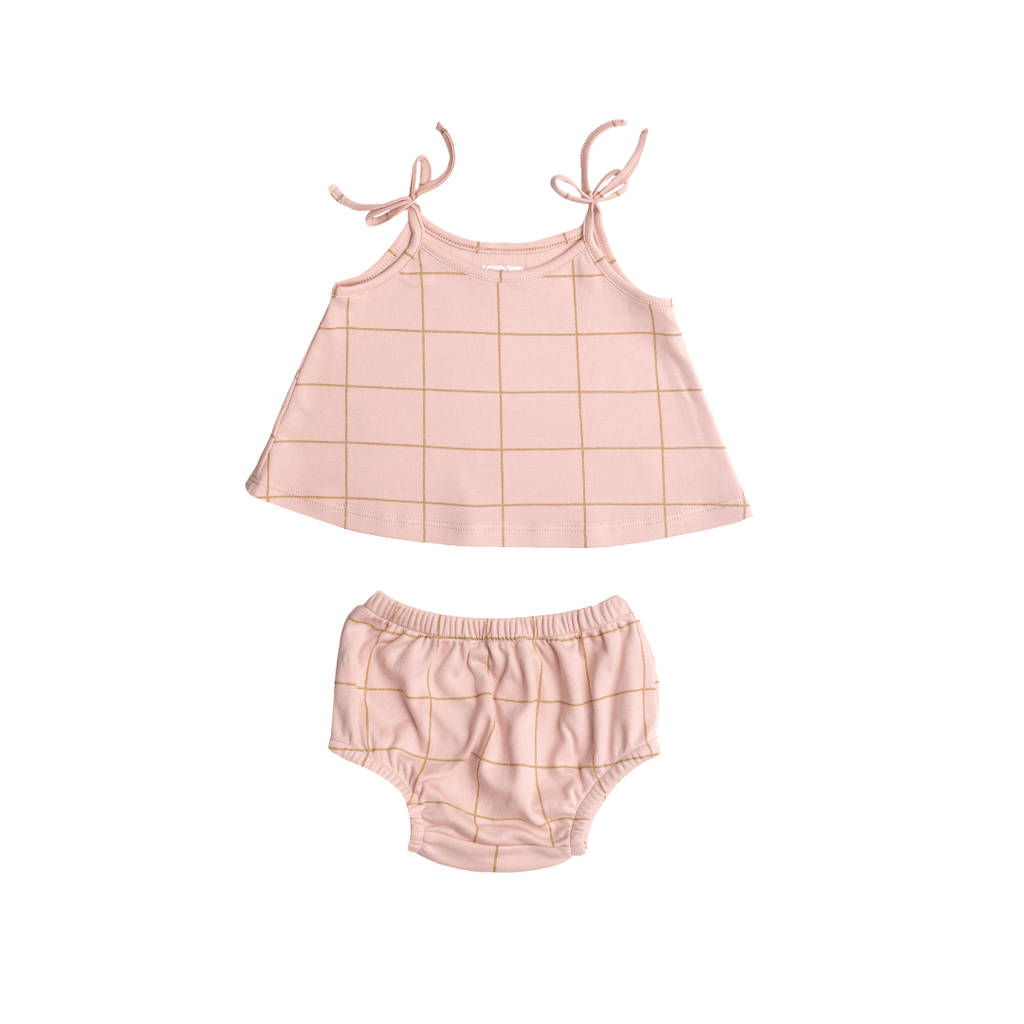 Pink Squares Two-Piece Tank Set - Project Nursery