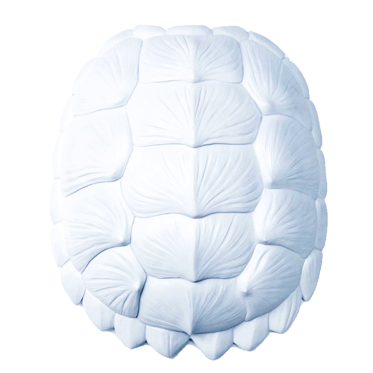 Tortoise Wall Sculpture in White  - The Project Nursery Shop - 1
