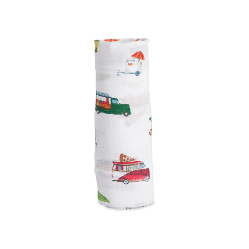 Food Truck Swaddle Blanket - Project Nursery