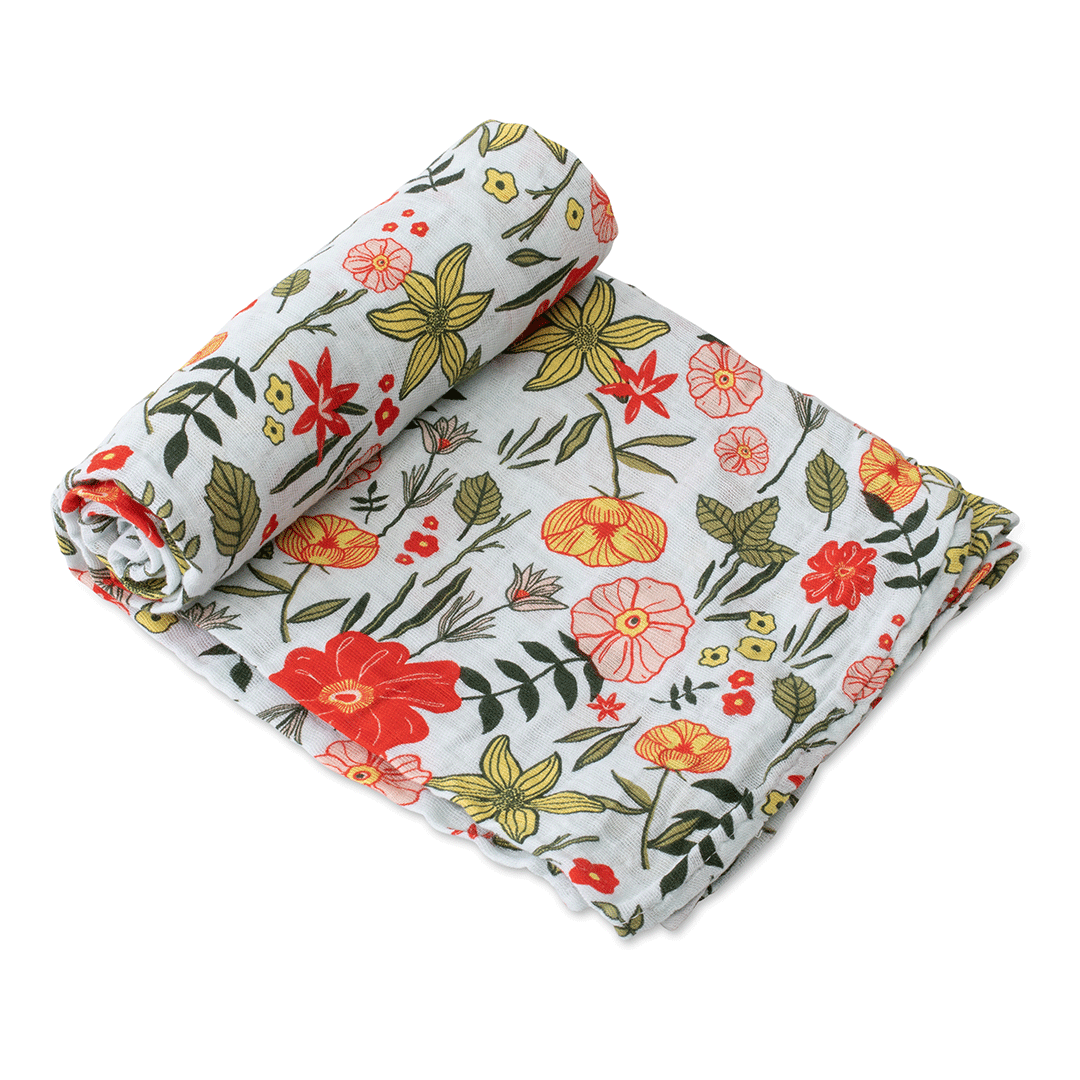 Primrose Patch Swaddle Blanket - Project Nursery