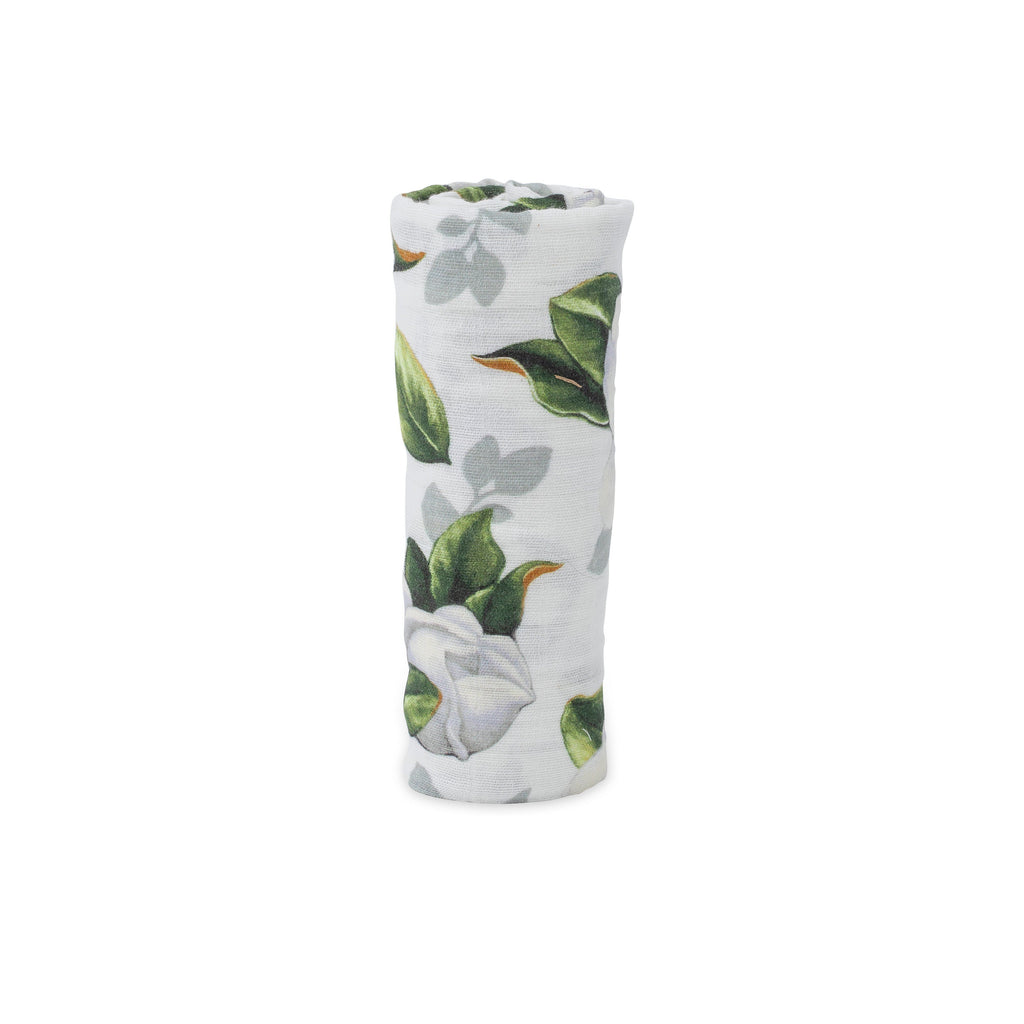 Magnolia Blossoms Swaddle Blanket - Project Nursery