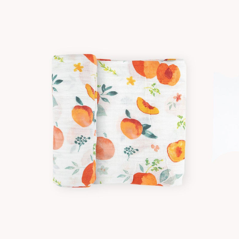 Georgia Peach Swaddle Blanket - Project Nursery