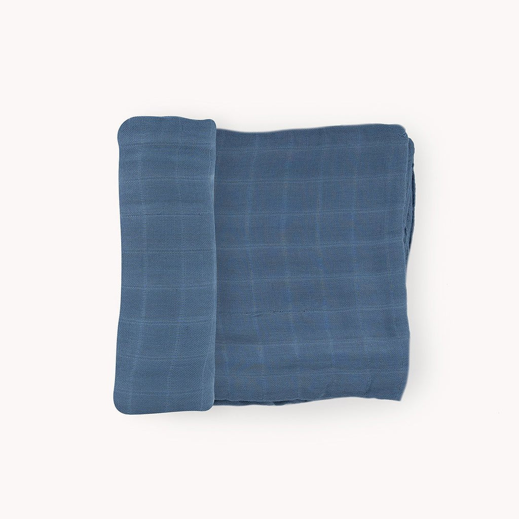 Blue Dusk Deluxe Muslin Swaddle Blanket - Project Nursery