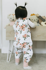 Watercolor Roses Cotton Muslin Sleep Romper - Project Nursery