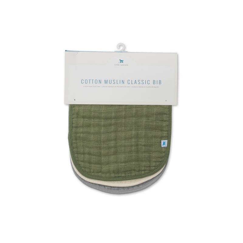 Fern Cotton Muslin Classic Bib Set - Project Nursery