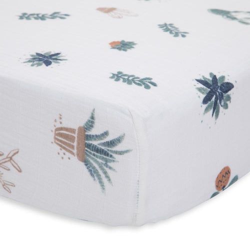 Prickle Pots Cotton Muslin Crib Sheet - Project Nursery