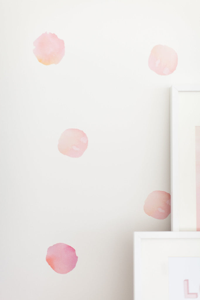 Watercolor Polka Dots Wall Decals  - The Project Nursery Shop - 5