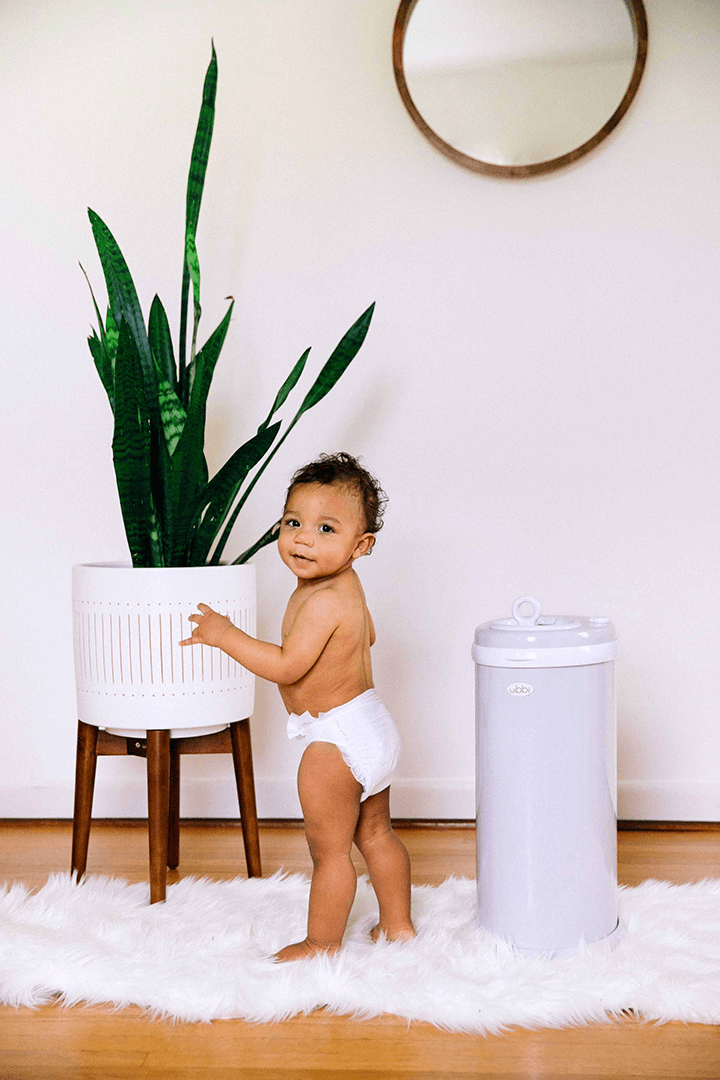 Ubbi Diaper Pail in Gray - Project Nursery