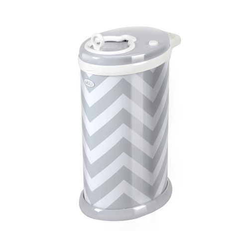 Ubbi Diaper Pail in Grey Chevron - Project Nursery