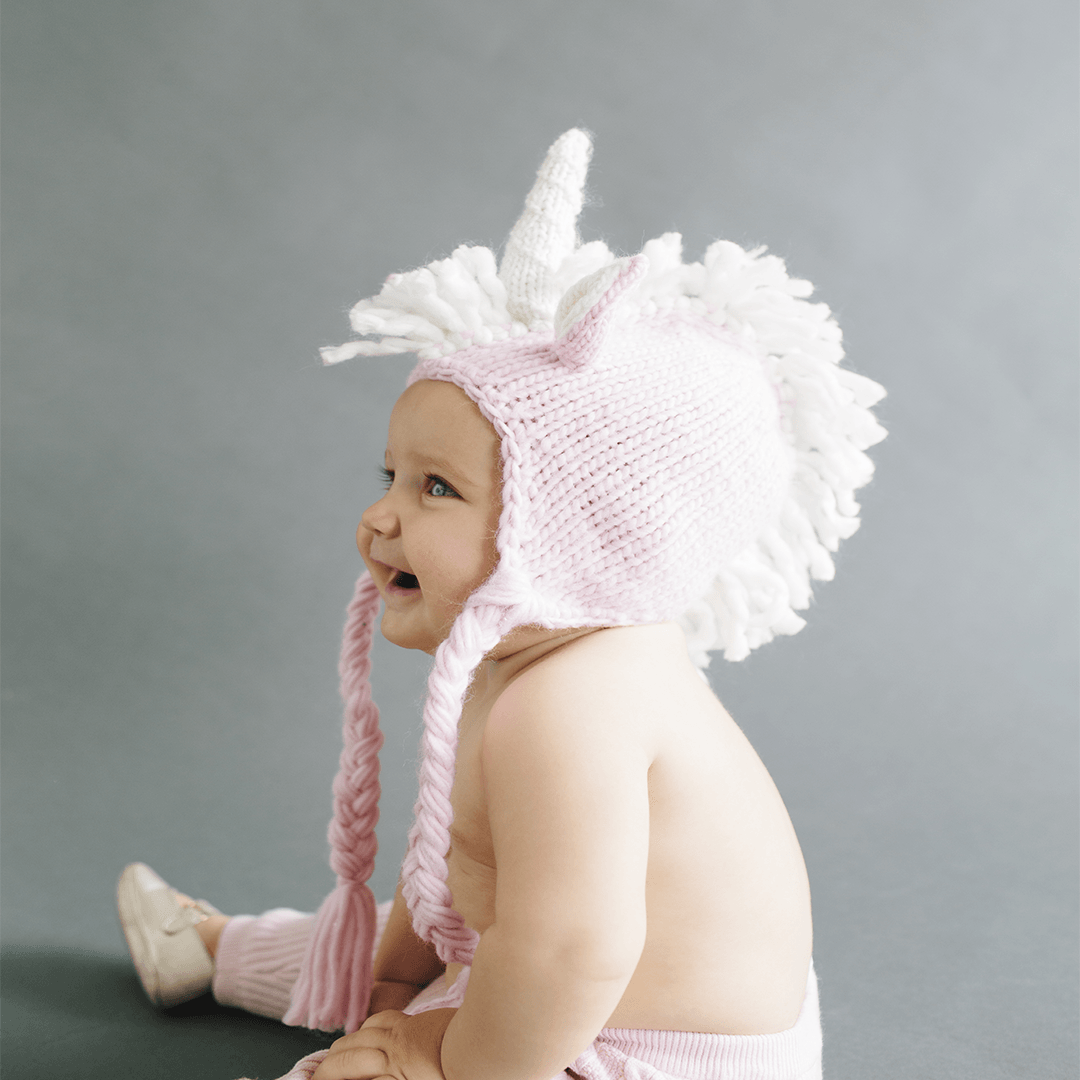 Unicorn Knit Hat - Pink