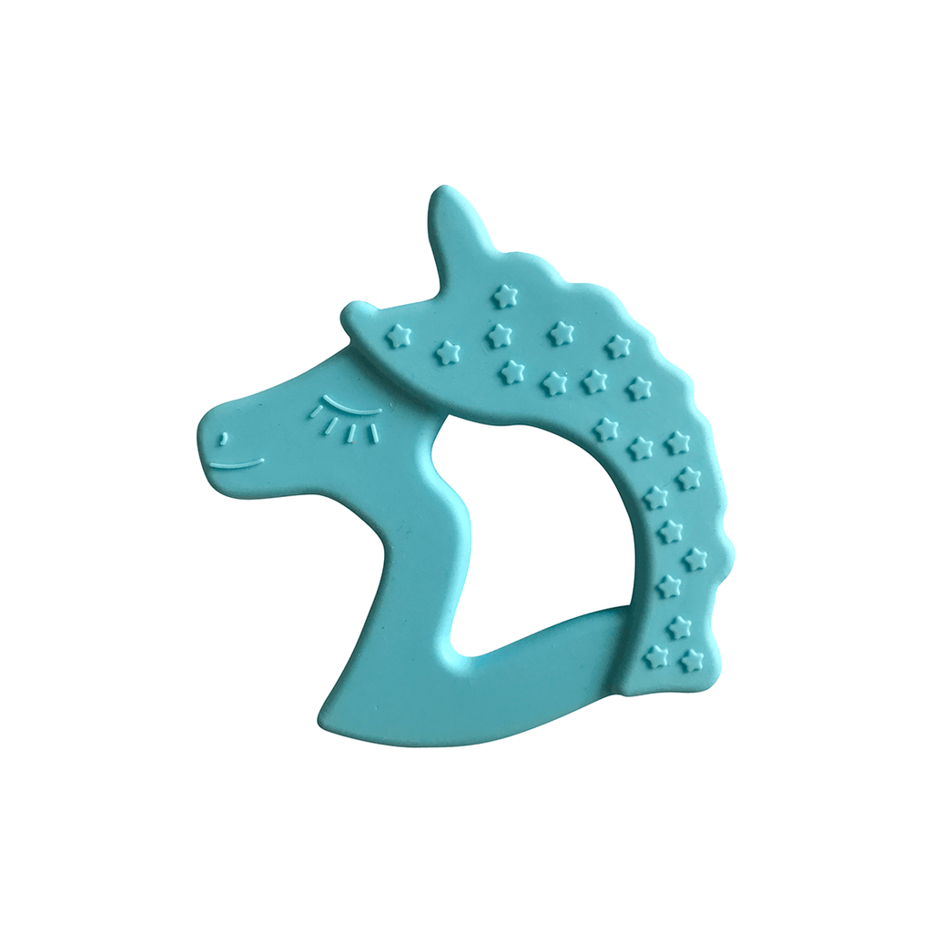 Unicorn Teether Cyan - The Project Nursery Shop - 1