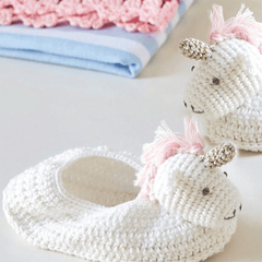 Crochet Unicorn Booties - Project Nursery