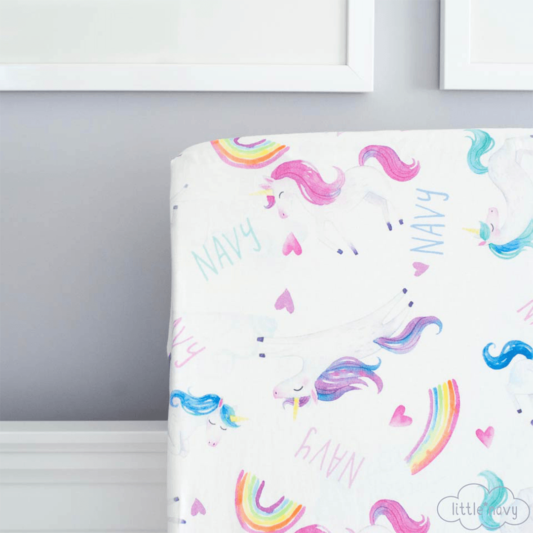 Personalized Magical Unicorn Organic Cotton Crib Sheet - Project Nursery