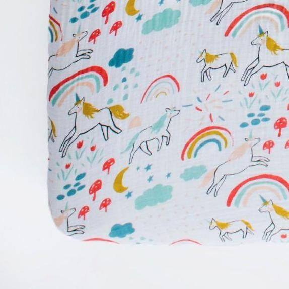 Unicorn Land Crib Sheet - Project Nursery