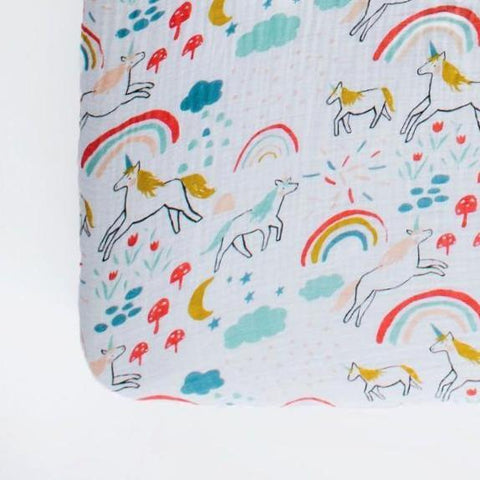 Sand Rainbow Muslin Crib Sheet