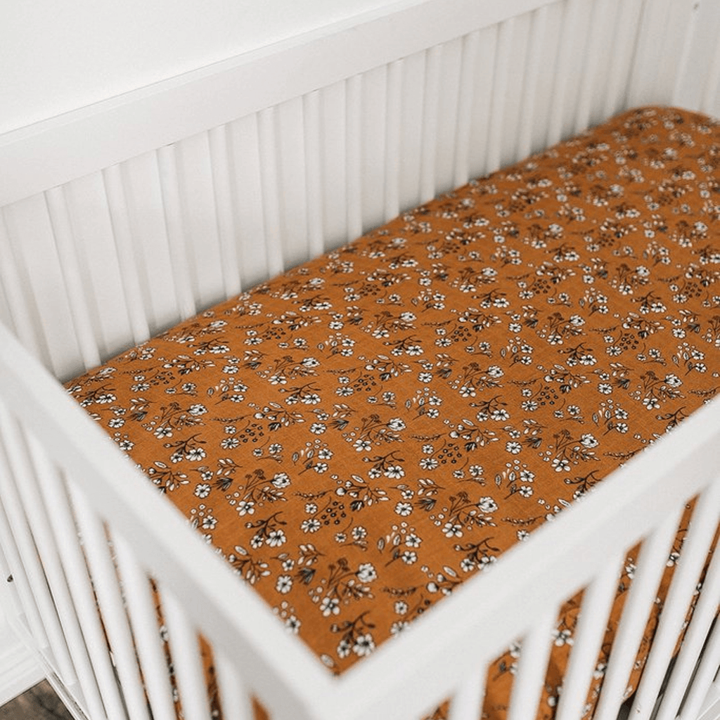 Vintage Floral Muslin Crib Sheet - Project Nursery