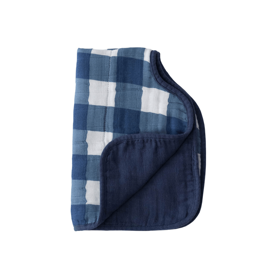 Cotton Muslin Burp Cloth - Jack Plaid - Project Nursery