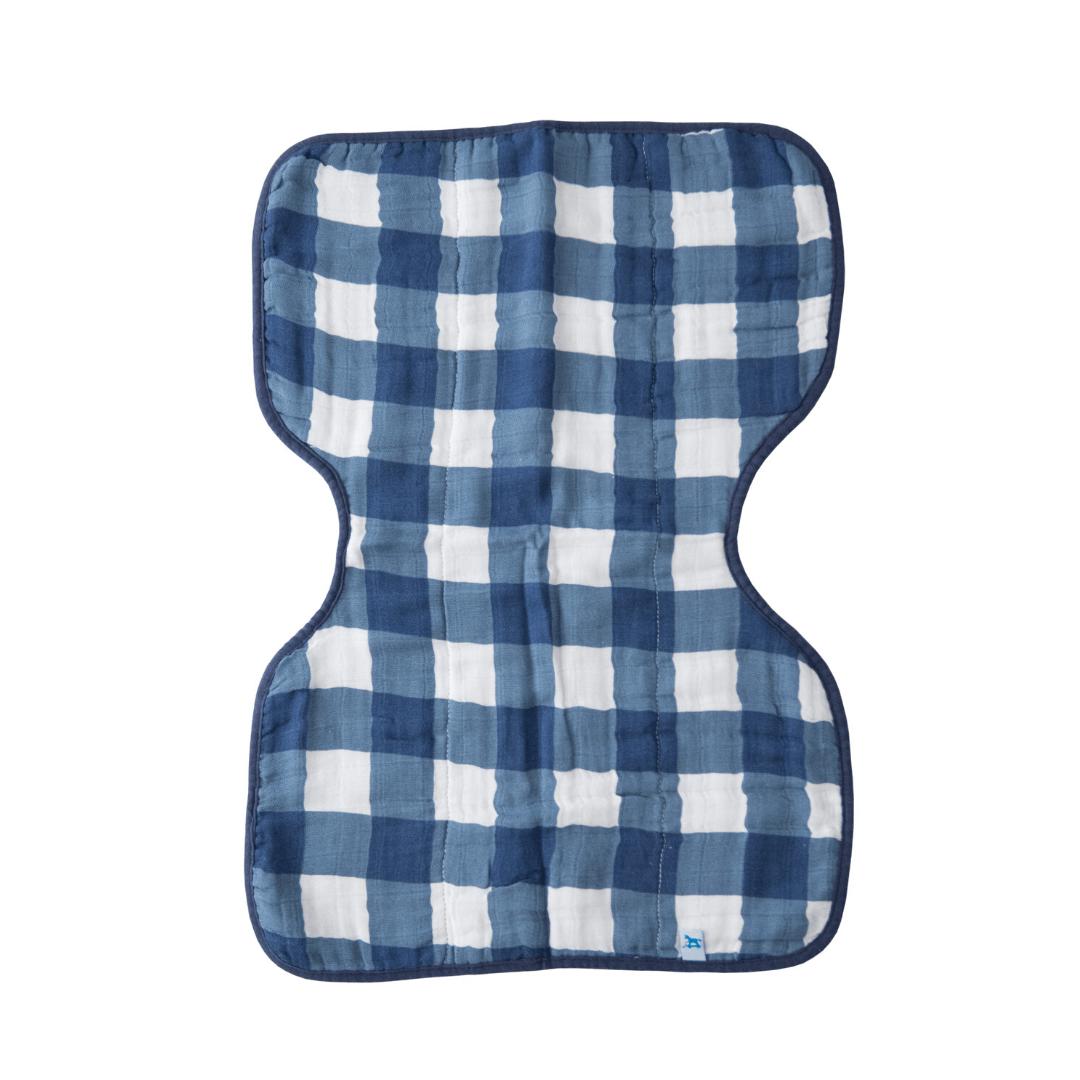 Jack Plaid Cotton Muslin Burp Cloth - Project Nursery