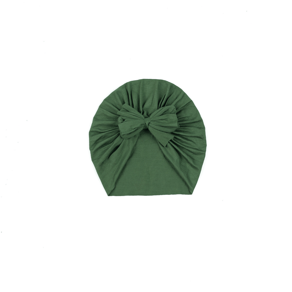 Olive Green Bow Turban Hat - Project Nursery
