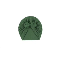 Olive Green Bow Turban - Project Nursery