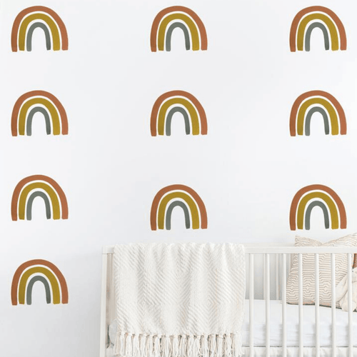 Rainbow Wall Decal Set - Rust + Mustard - Project Nursery