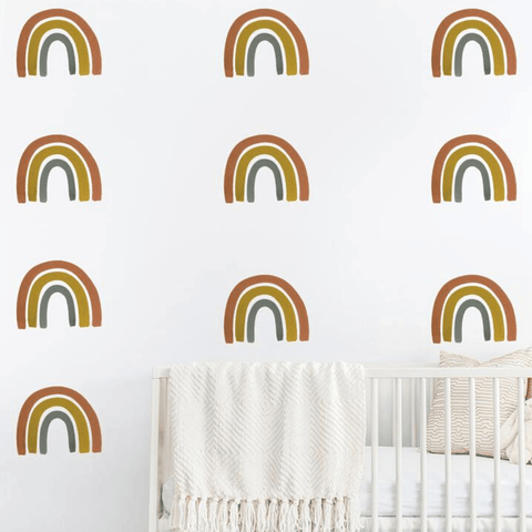 Rainbows Organic Cotton Jersey Crib Sheet