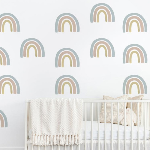 Rainbow Wall Decal Set - Blue + Grey - Project Nursery