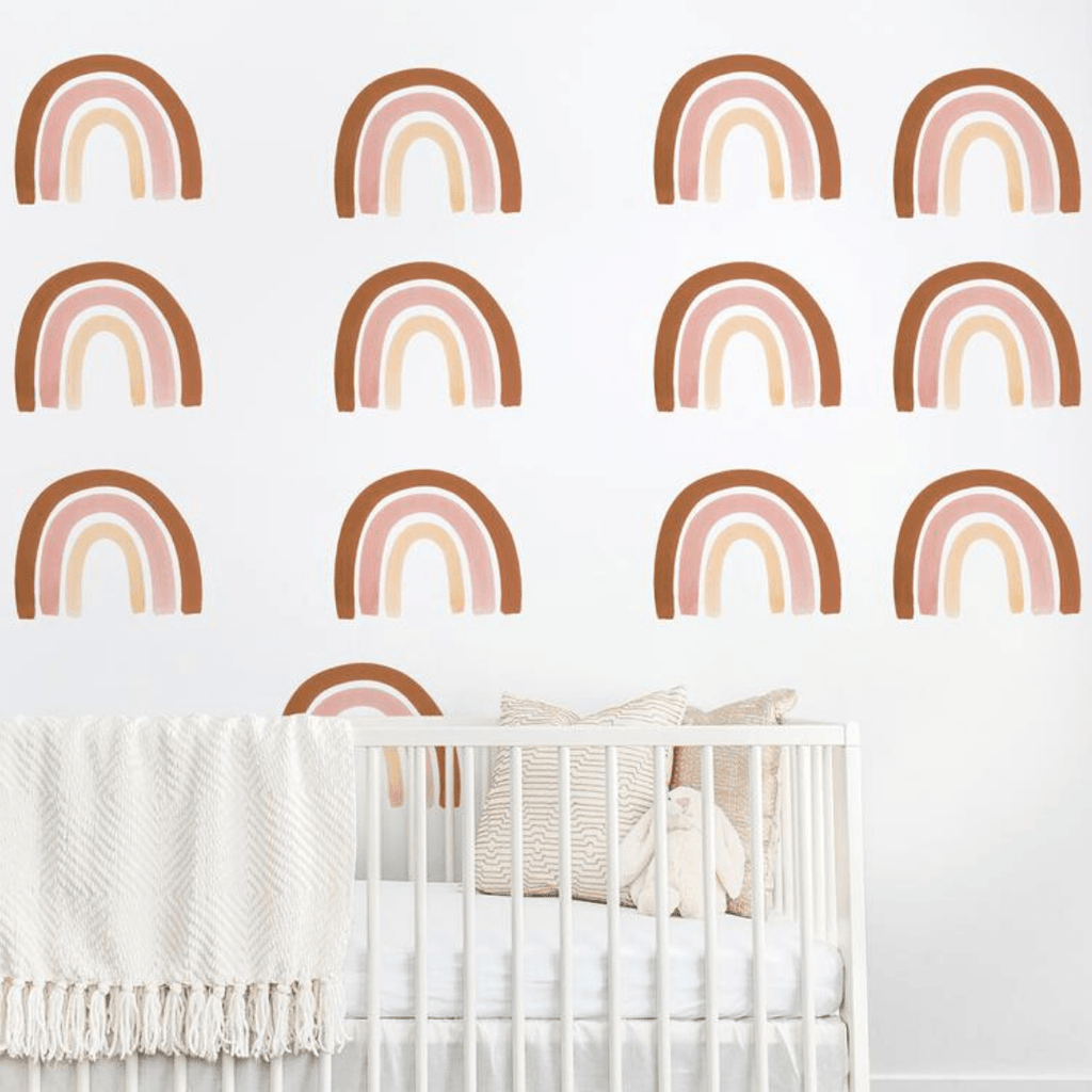 Rainbow Wall Decal Set - Rust + Pink - Project Nursery