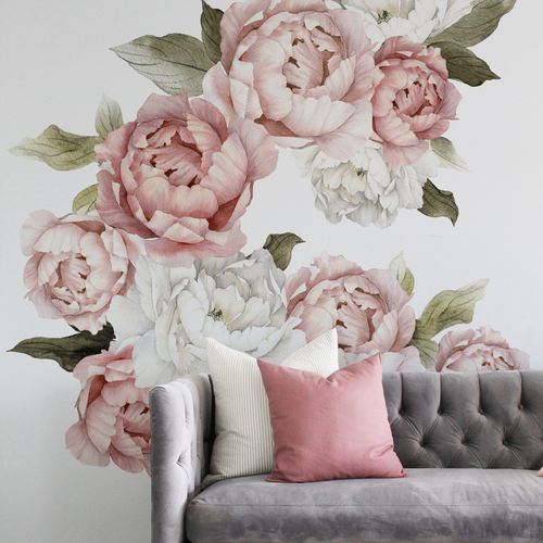 Blushing Peonies Wall Decals - Project Nursery